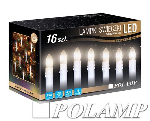 Lampki Led świeczki Ciepłe Białe