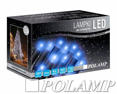 Lampki Choinkowe Led Niebieski Pvc